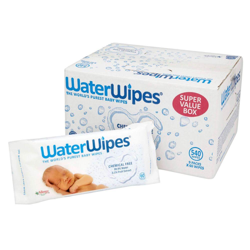 pack de toallitas de bebe water wipes