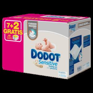 toallita dodot sensitive pack de 7 +2 x 54 toallitas