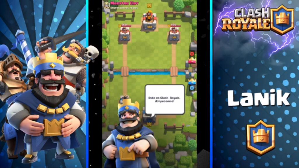pantalla inicial de clash royale