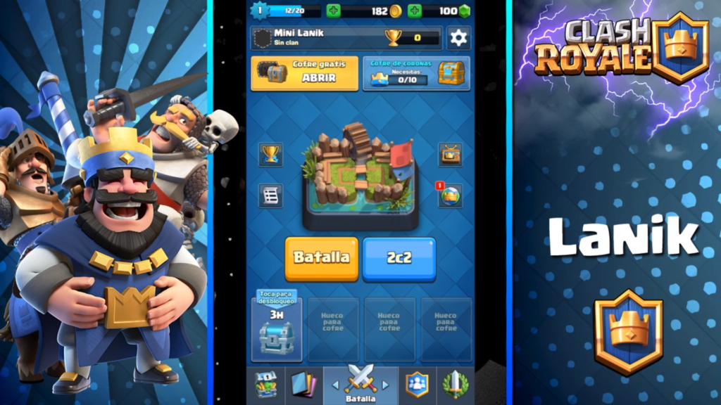 pantalla de batallas de clash royale