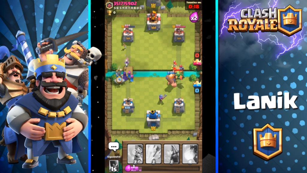así se tanquea en clash royale, unidades potentes protegiendo a débiles